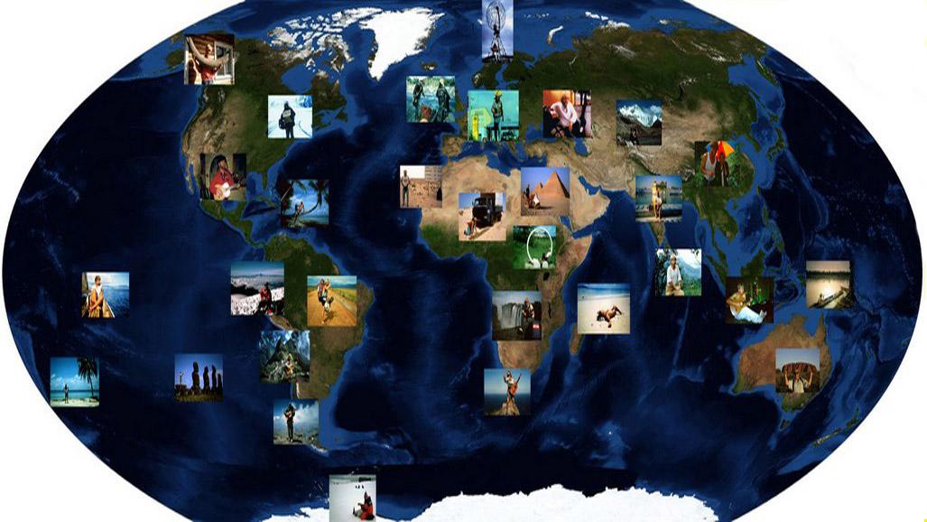 Weltkarte mit Inserts